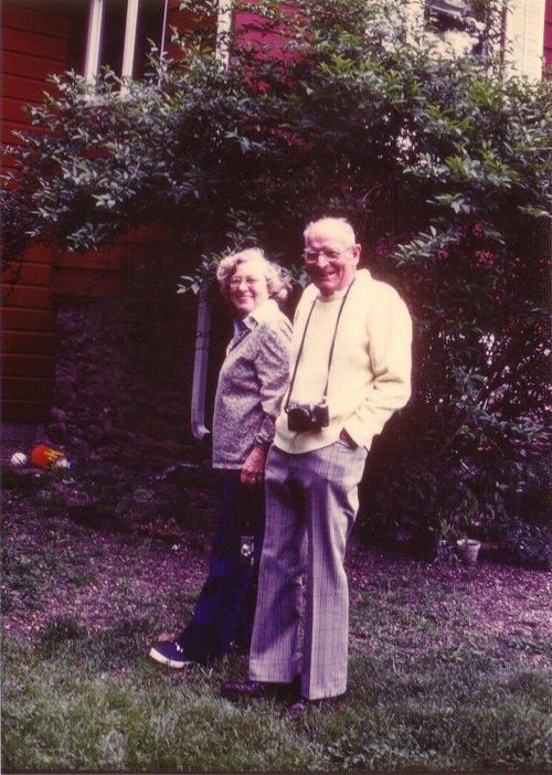 John and Clara Losee at their home in Rock City (Milan)
